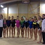 nos gymnastes et leurs entraîneurs